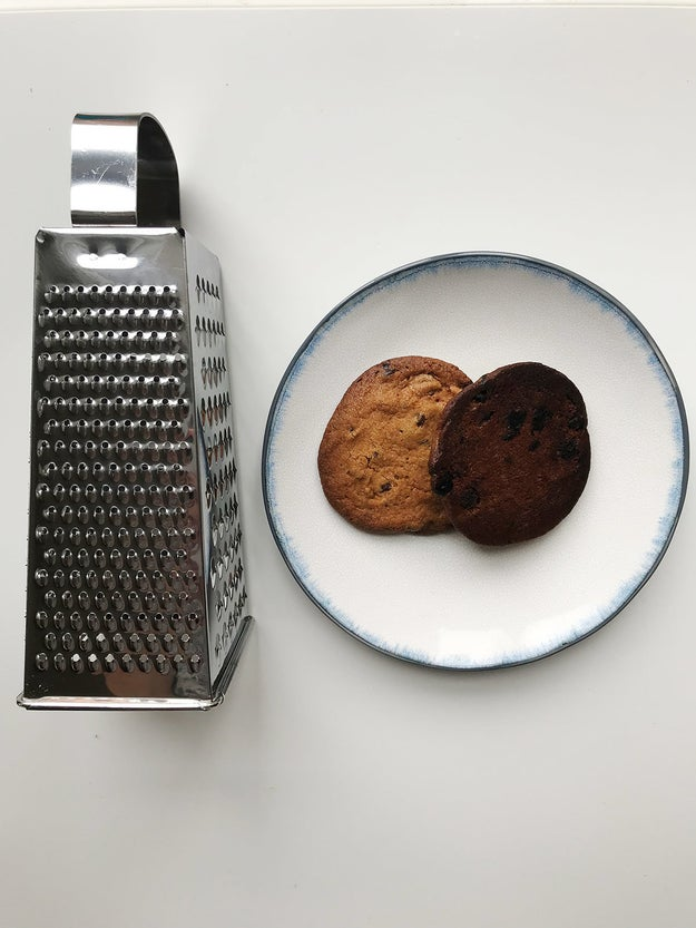 HACK #12: Use a box grater to salvage burnt cookies.