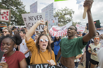 Florida School Shooting Survivors March To The State Capitol Demanding Gun Regulations