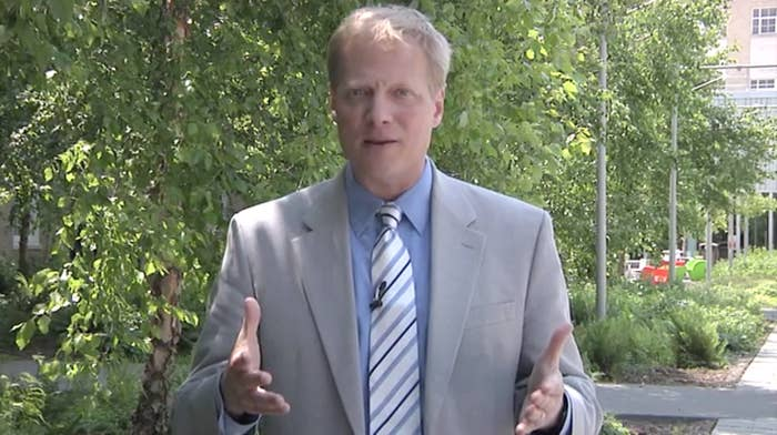 Brian Wansink, as seen in a video asking people to contribute to his Kickstarter.