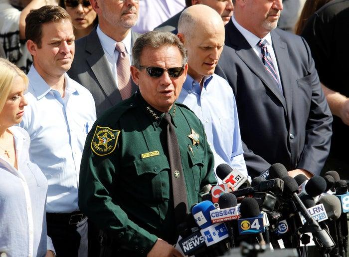 Sheriff Scott Israel in Parkland, Florida, Thursday.