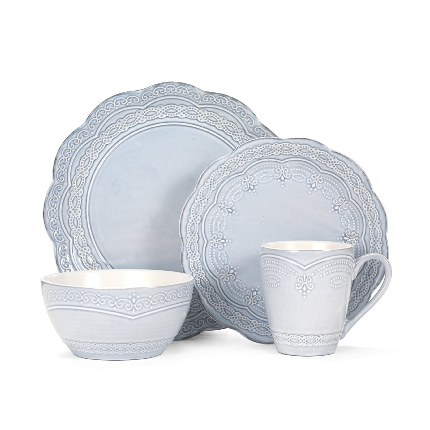 Service for four includes four dinner plates four salad plates four soup/cereal  sc 1 st  BuzzFeed & 15 Of The Best Dishware Sets You Can Get On Amazon