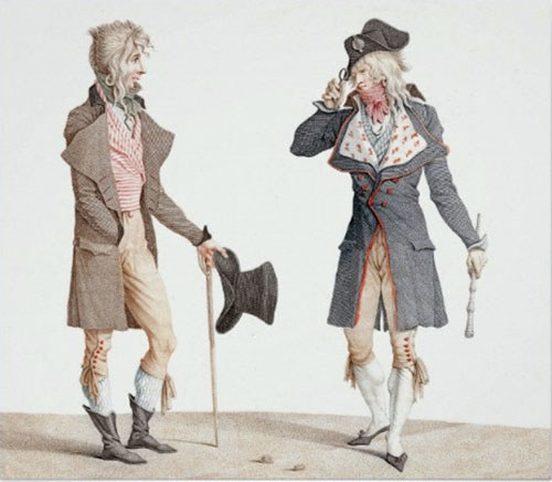 "So even though we think of ""scandalous"" or strange fashion as fairly modern, these trendsetters were disrupting society with their style over 200 years ago."