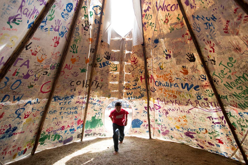 Sacred Stone Camp near Cannon Ball, North Dakota, on Sept. 10, 2016.