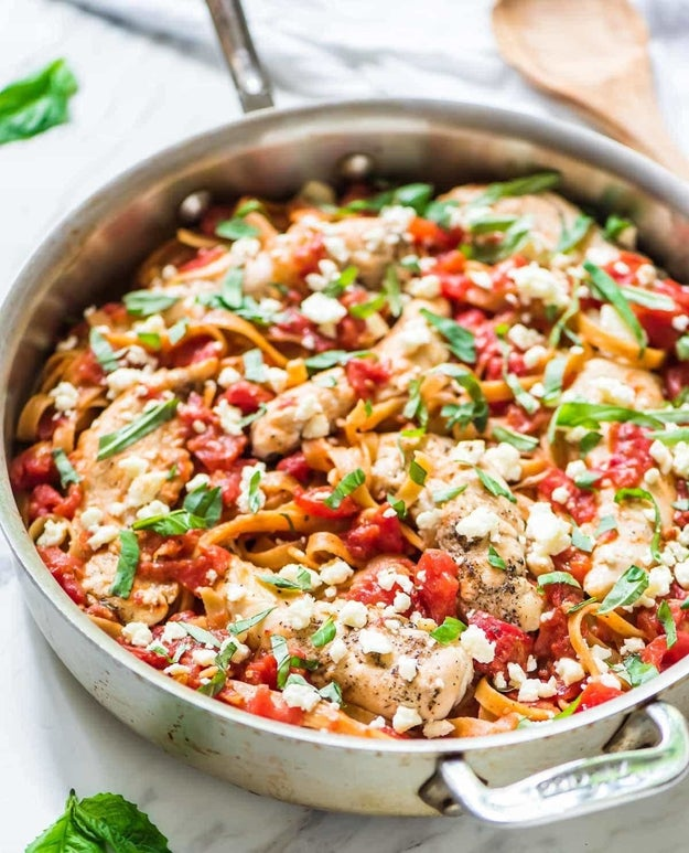 Chicken Feta Pasta