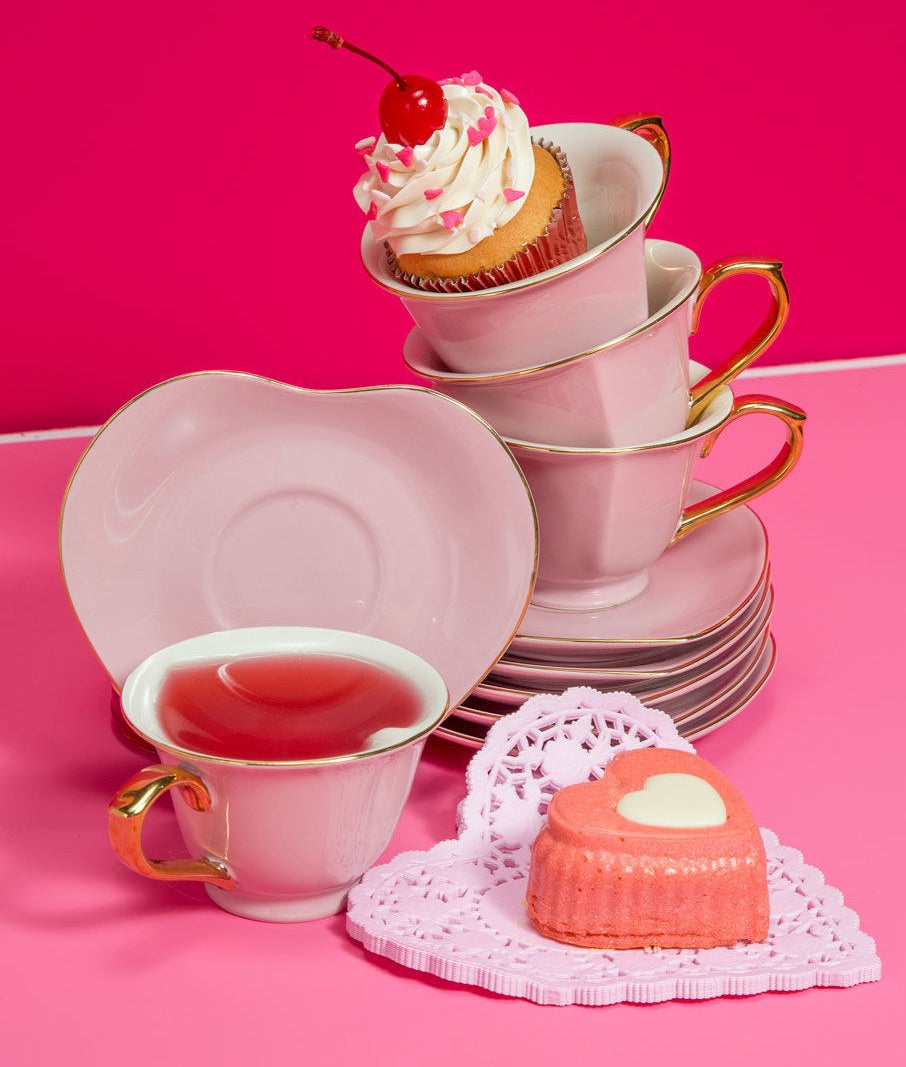 This set comes with six teacups and six matching, heart-shaped saucers. Get it from ModCloth for $59.99.
