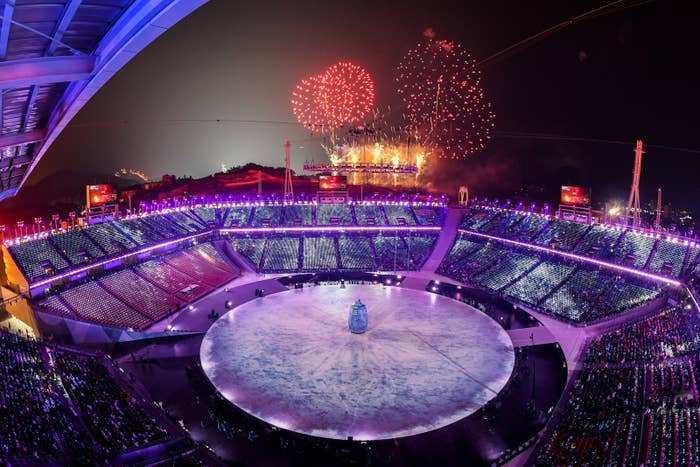 The opening ceremony of the Pyeongchang 2018 Winter Olympic Games at the Pyeongchang Stadium on Feb. 9.