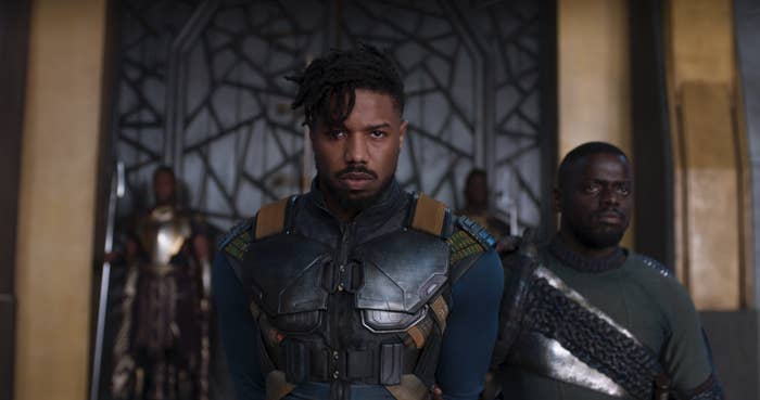 Michael B. Jordan (center) and Daniel Kaluuya (right).