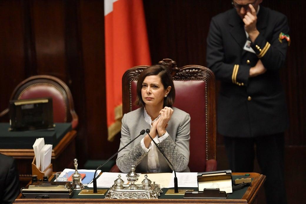 Laura Boldrini in Parliament on Dec. 13, 2016.