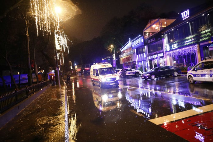 Turkish police respond in the aftermath of the Reina nightclub attack
