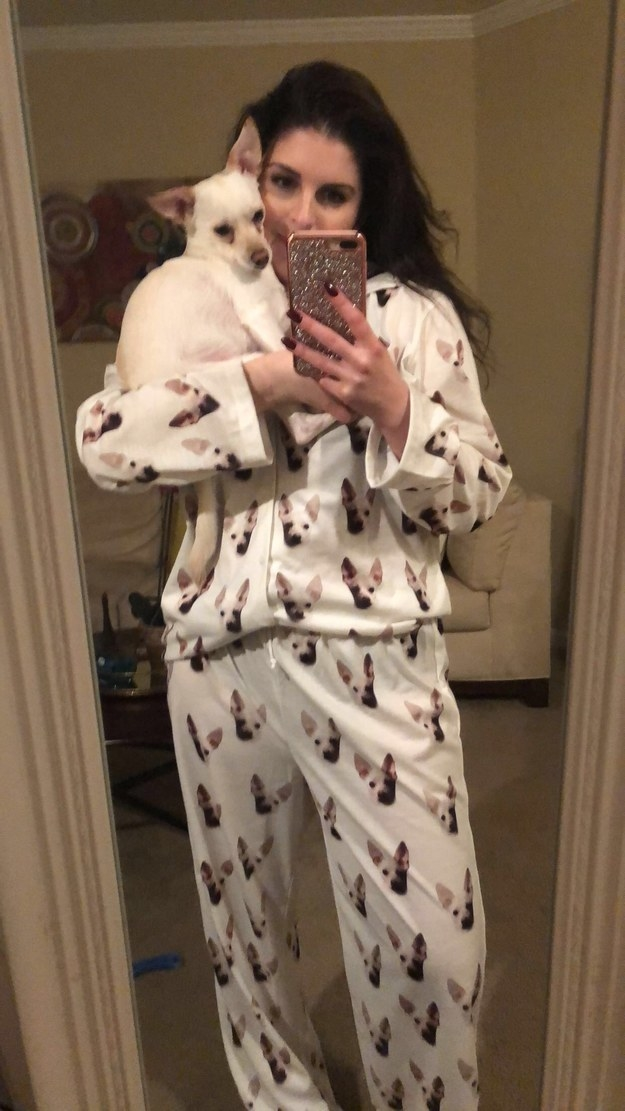 And speaking of pajamas, Daisy's face is all over this pair!