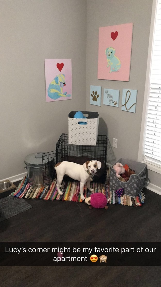 Lucy here has a whole corner dedicated to her.