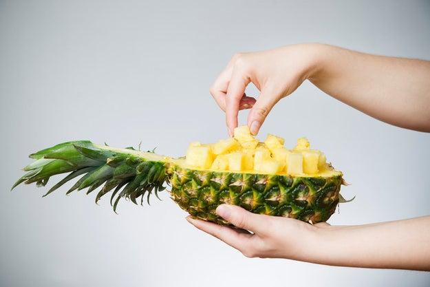 Eating pineapples breaks down your flesh.