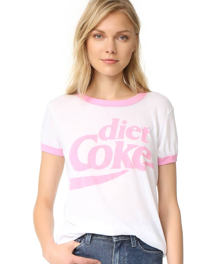 7311542a39a4 A lightweight Wildfox Diet Coke tee, because you have D-Coke running  through your veins, so why not have it on your chest?