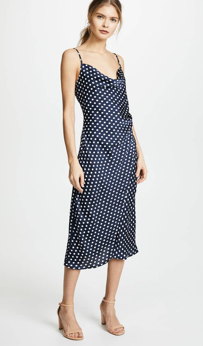 b696d7b0617992 A gorgeous Re named polka dot slip dress to help you get through the spring  and summer without breaking a sweat.
