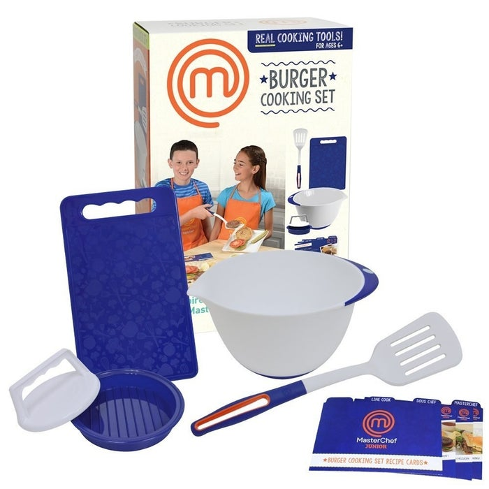 """Promising review: """"Got this for my 11-year-old son who wants to be a cook when he grows up. He was proud he was able to make dinner for the family. It's a cute set with good-quality contents. We plan on purchasing another set for his birthday. Would recommend this to a friend."""" —Susan BarnessGet it from Amazon for $24.99."""