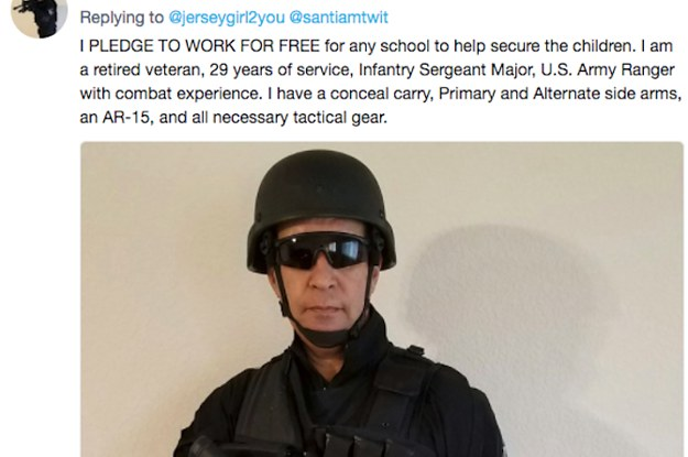 People Are Trolling This Dude Who Vowed To Protect Schools