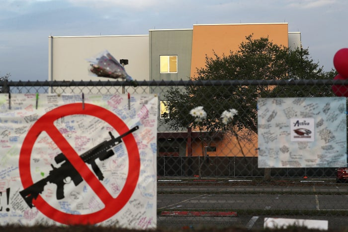 The fence around Marjory Stoneman Douglas High School in Parkland, Florida.