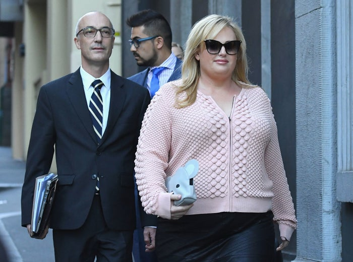 Lawyer Richard Leder with his client, Rebel Wilson.