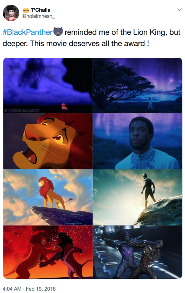 There are a lot of visual similarities to The Lion King.