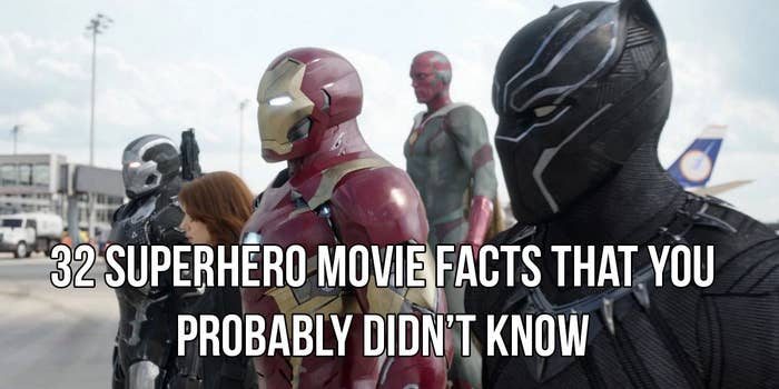 """32 Superhero Movie Facts That'll Make You Say """"How Am I Just Finding This Out?"""""""
