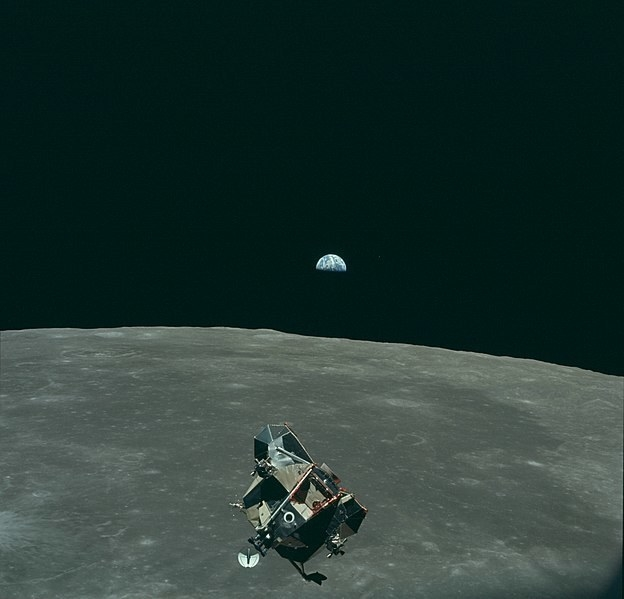 Astronaut Michael Collins took a picture of Neil Armstrong and Buzz Aldrin in the Lunar Module, with Earth in the background, meaning he took a picture of every human who ever lived, except for himself.