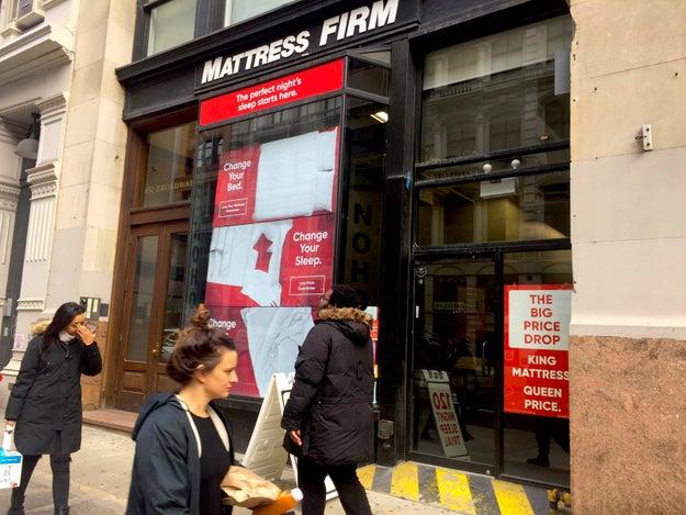 Having a new mattress store in the neighborhood didn't seem to faze one of Casper's traditional competitors, Mattress Firm.