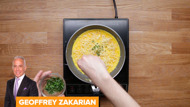 Then it was on to Geoffrey Zakarian's recipe, who likes to add an extra egg yolk and some diced frozen butter to his batter.