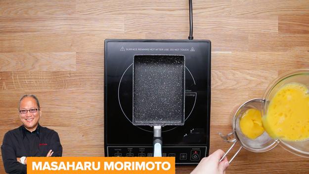 Next was Iron Chef Masaharu Morimoto's recipe, which involves light soy sauce, sugar, and dashi.