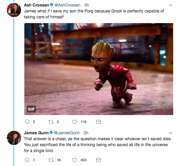 Second, he shut down the argument of Groot being able to care for himself REAL QUICK.