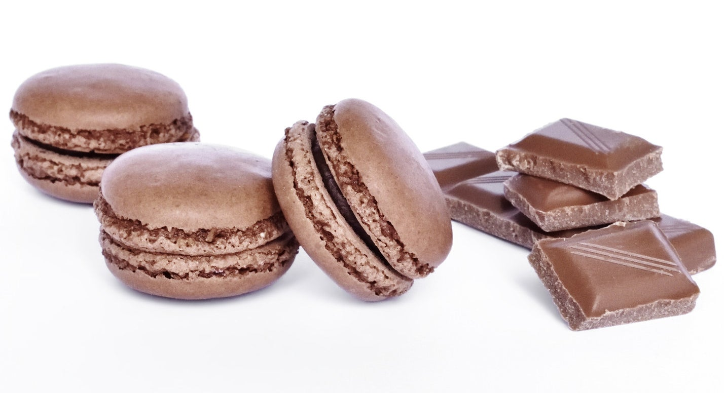 These are chocolate macarons. Look pretty simple, right? We'll see if you have what it takes to make it through the recipe for these deceptively tricky little cookies.