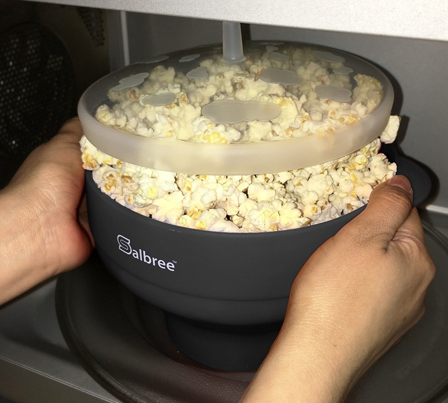 A collapsible popcorn popper that offers a healthier alternative to the microwavable bags you grew up with.