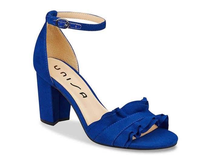 bf7613f7ec16 And ruffle-detail heels in a few striking colors that we re not saying  might  actually  stop traffic