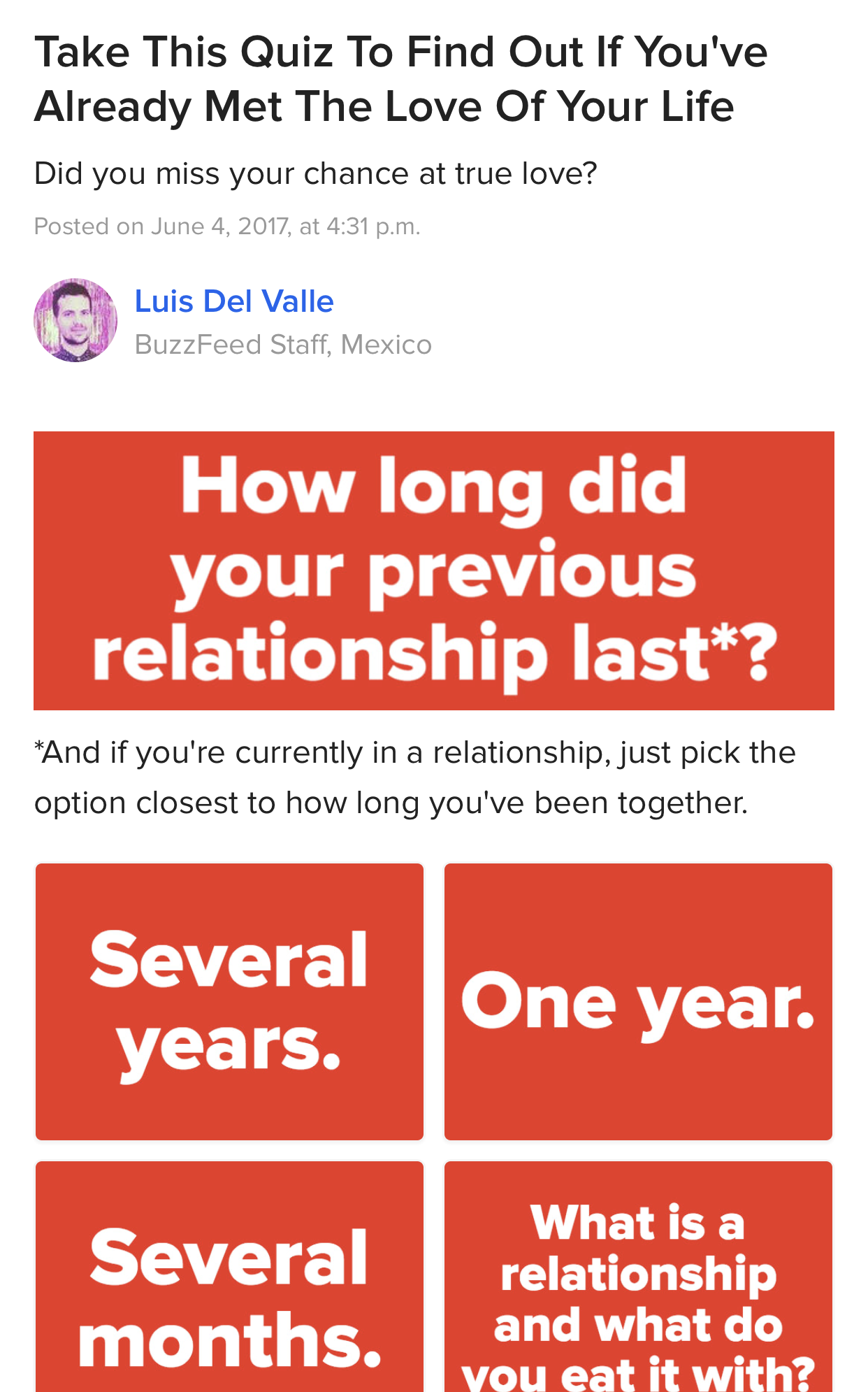 will i find love this year quiz