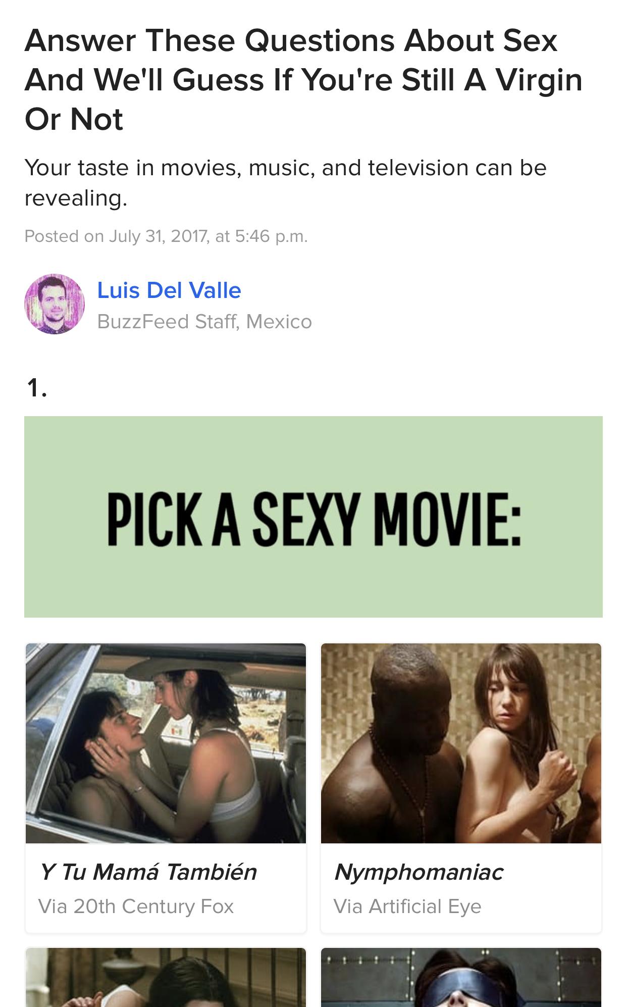 Are we sexually compatible quiz