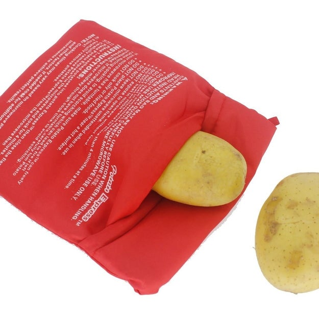 A potato bag so you can bake your spuds even when your conventional oven is a dud.