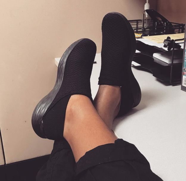 But then being able to wear the comfiest slip-on shoes everywhere.