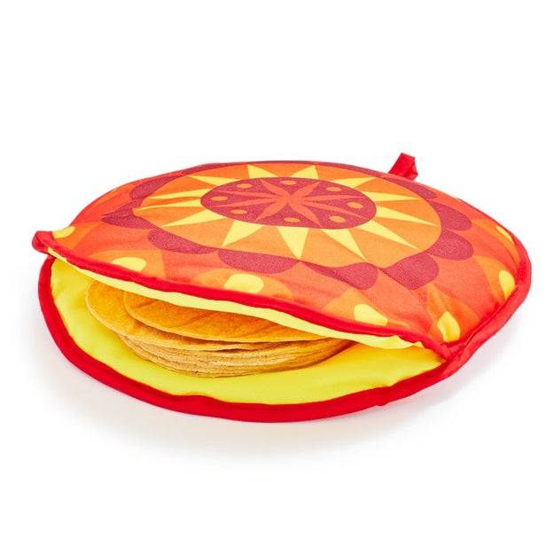 A colorful pouch for people who prefer their tortillas and pitas warm instead of crispy.