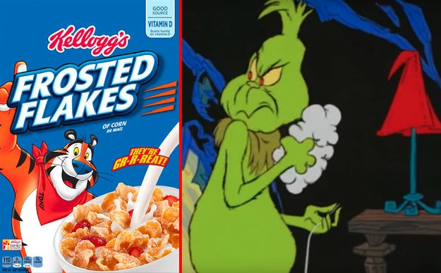 "Thurl Ravenscroft, the man who sang, ""You're a Mean One, Mr. Grinch"" in Dr. Seuss' How the Grinch Stole Christmas, was also the voice of Tony the Tiger in Frosted Flakes commercials."