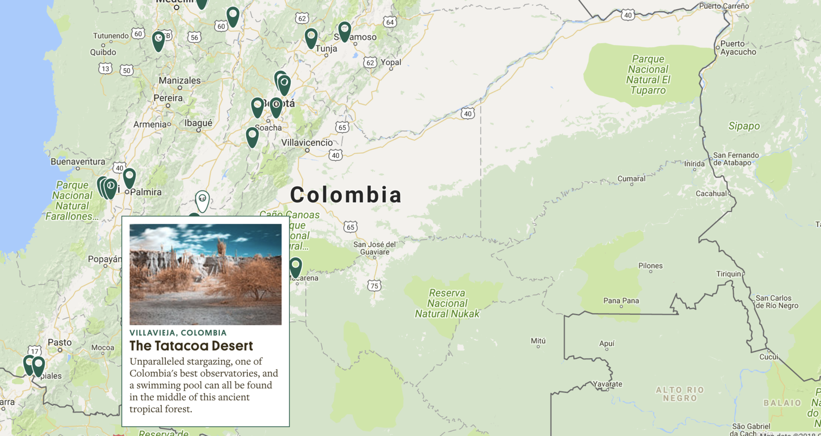 This amazing map depicts the 13000 hidden wonders of the world this way you can easily navigate between wonders from every corner of the world like this delightful pool in the middle of the tatacoa desert in colombia gumiabroncs Image collections