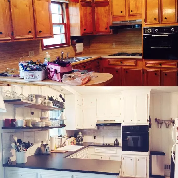 """100 Year Old Hoboken Townhouse Gets Kitchen Makeover: 19 Room Transformations That Will Make You Say """"Right, It"""