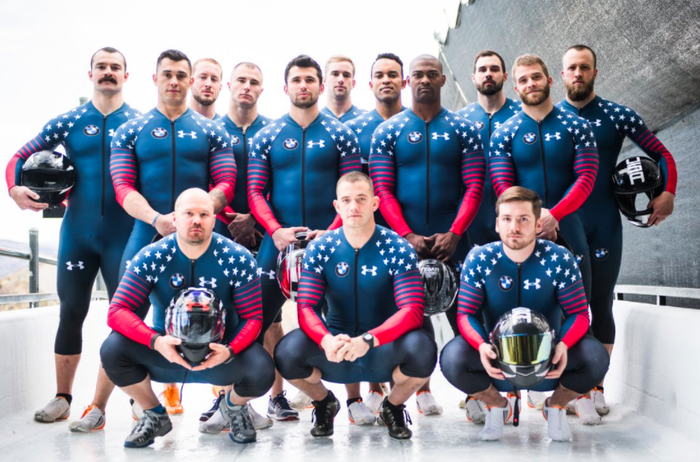 Not familiar with bobsled? It's basically men, in spandex, going fast. Together.
