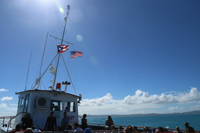 The ferry to Vieques from Fajardo