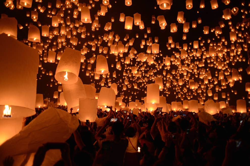 Here S What One Of The Festivals That The Floating Lights Scene From Tangled Actually Looks Like