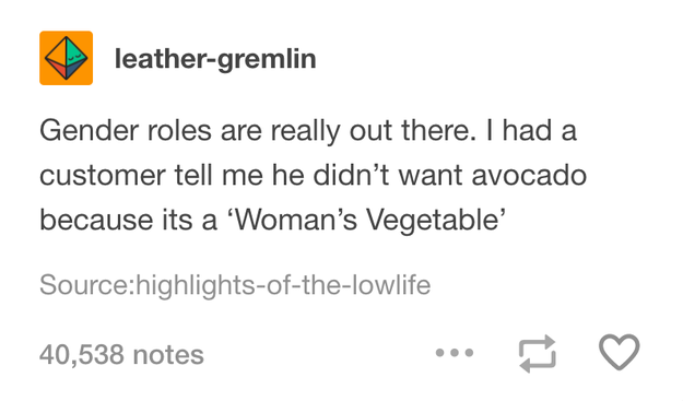 """On """"women's vegetables"""":"""