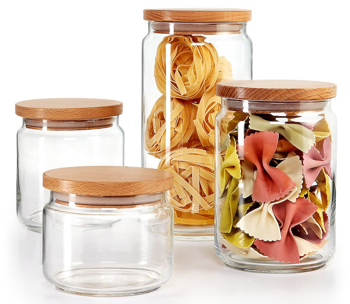 A four-piece canister set from Martha Stewart that's made exclusively for Macy's and looks better than pretty much everything else on your counter.