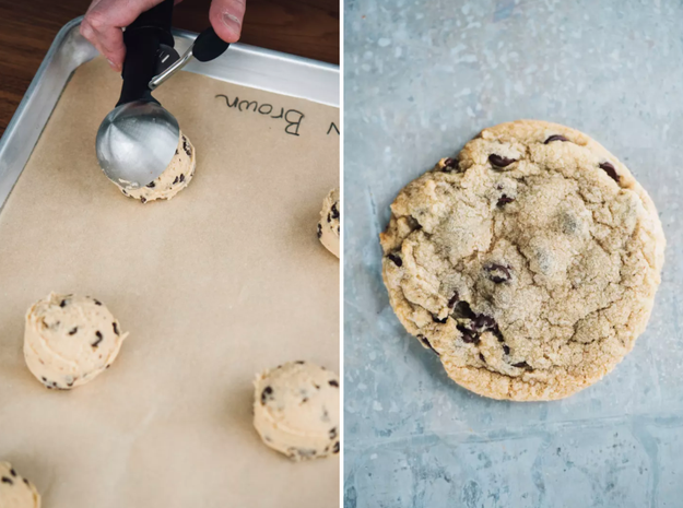 To make your chocolate chip cookies chewy (like the kind you get from grocery store bakeries) use bread flour instead of all-purpose flour...