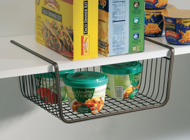 An under-the-shelf storage basket, because everyone needs a larger pantry.