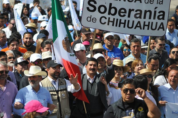 """Riding a wave of disenchantment and frustration felt deeply across the country, Corral announced the launch of the """"Caravan and March for the Dignity of Chihuahua."""""""