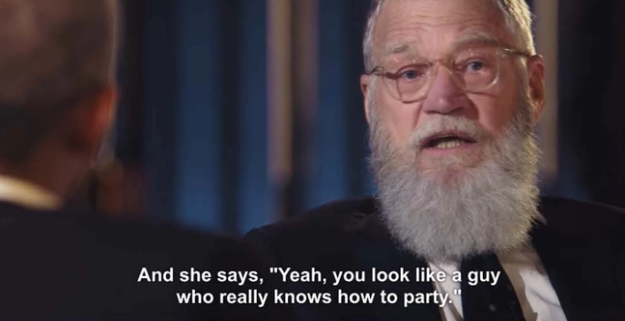 She said this burn to David Letterman the first time she met him at a party: