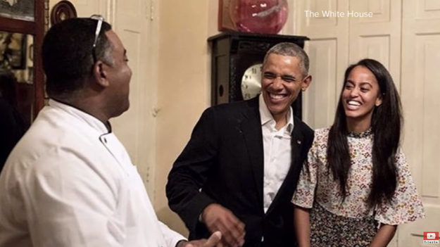 She once stepped in for her father to speak Spanish when Barack visited Havana, Cuba: